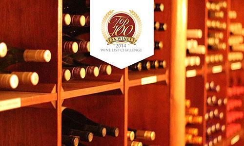 Top 100 SA Wines 2014 Wine List Challenge