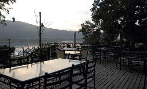 Tables overlooking estuary