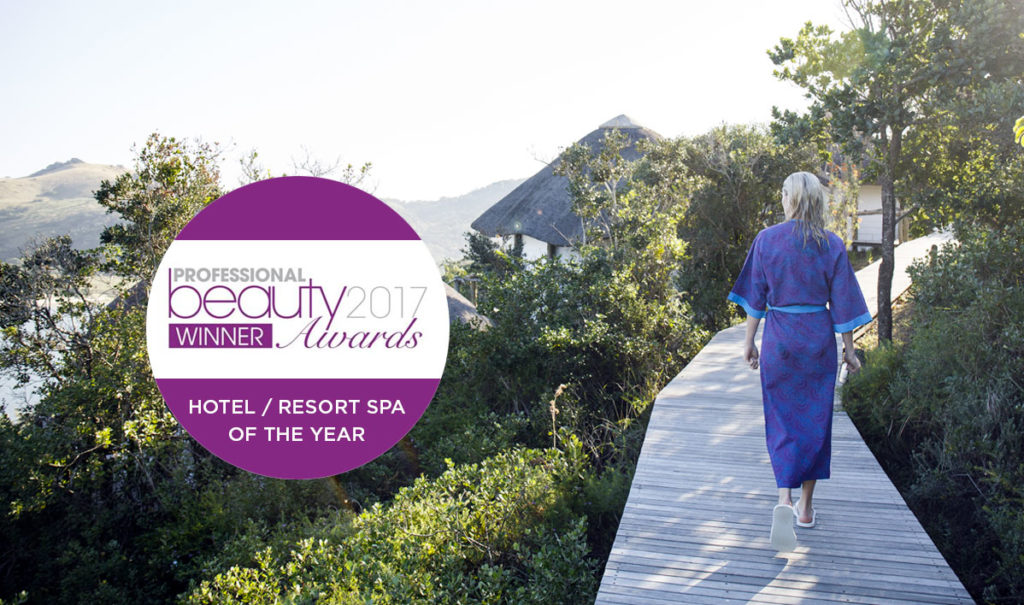 Umngazi wins Hotel/ Resort of the Year 2017 at the Professional Beauty Awards