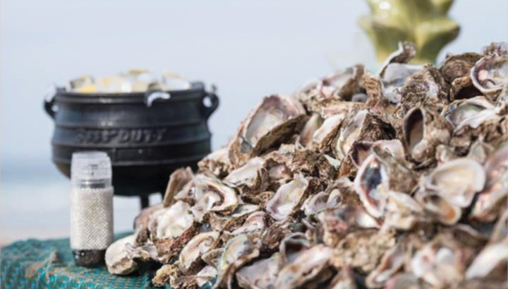 Oysters and potjie pot
